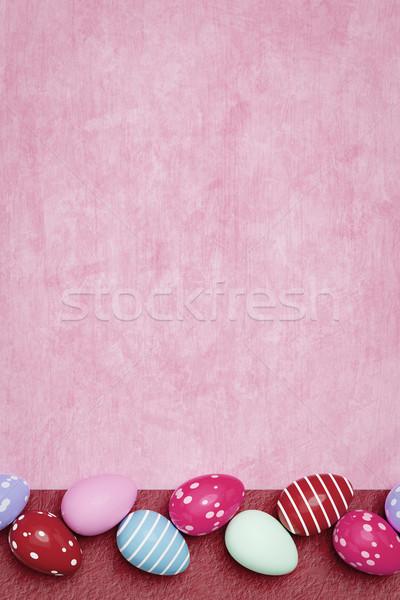 Belle oeufs colorés Pâques 3d illustration printemps fond Photo stock © magann