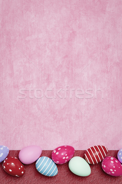 Mooie gekleurde eieren Pasen 3d illustration voorjaar achtergrond Stockfoto © magann