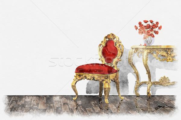 baroque room painting Stock photo © magann