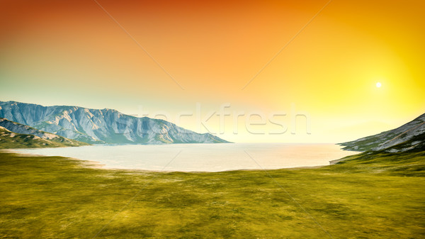 природы декораций закат 3D красивой Сток-фото © magann