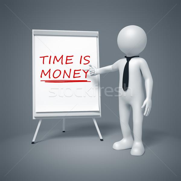 деловой человек Время-деньги изображение человека бизнесмен Сток-фото © magann