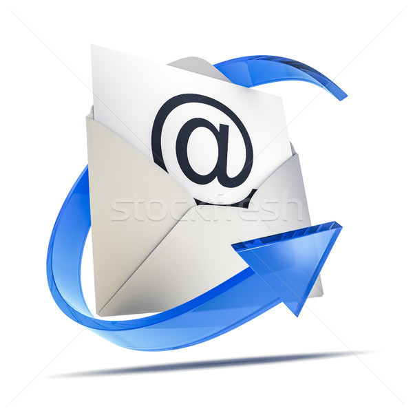 an envelope with an email sign Stock photo © magann