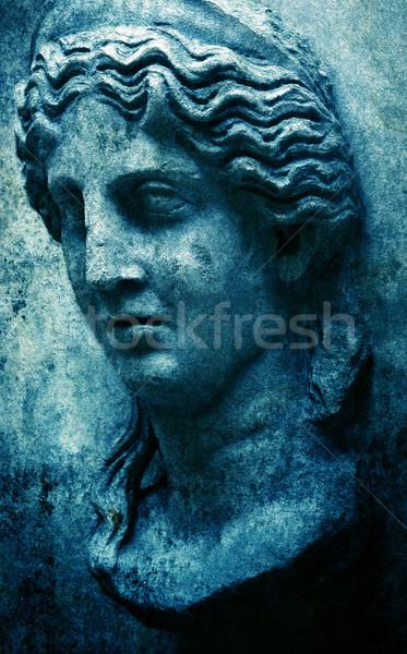 Гранж лице изображение фон искусства Сток-фото © magann