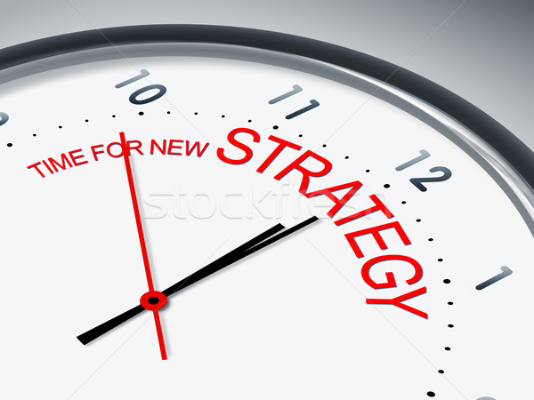 time for new strategy Stock photo © magann
