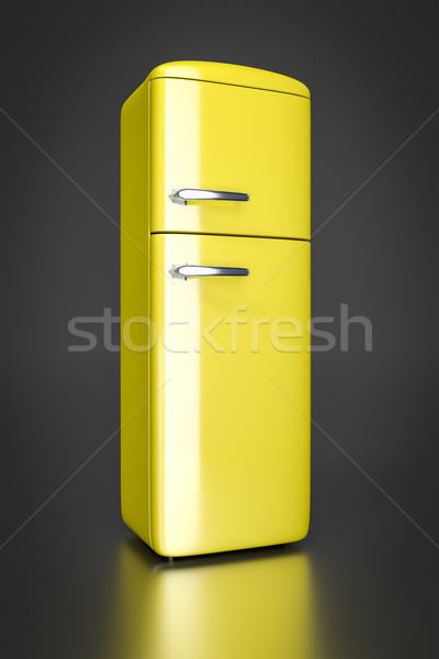 yellow refrigerator Stock photo © magann
