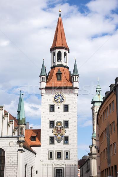 Cidade velha ouvir Munique imagem céu nuvens Foto stock © magann