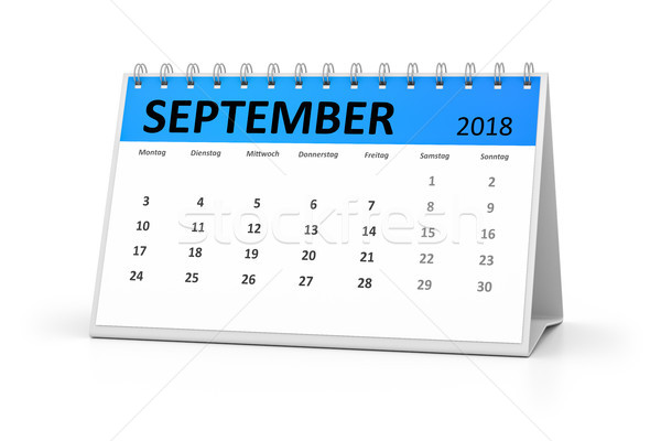 german language table calendar 2018 september Stock photo © magann