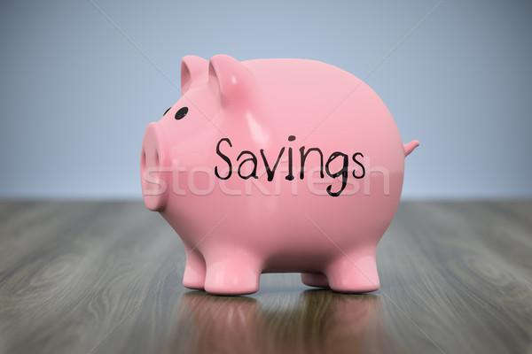 piggy bank with the word savings Stock photo © magann