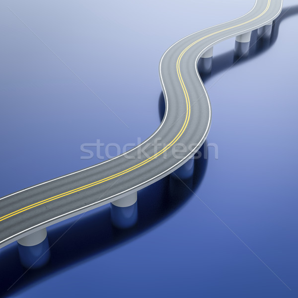 a winding road bridge over the sea Stock photo © magann