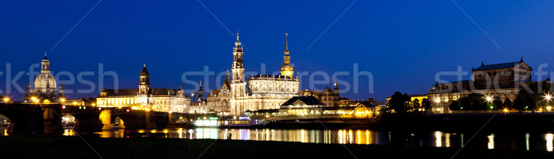 Dresden night Stock photo © magann