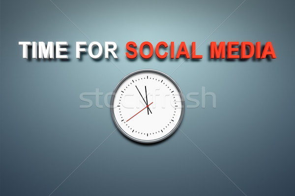 Time for social media at the wall Stock photo © magann