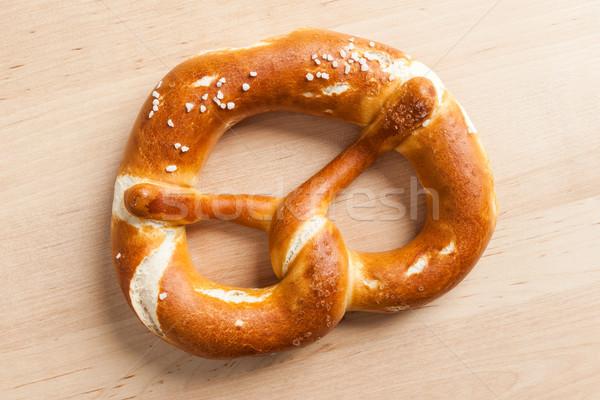 Tuzlu kraker görüntü lezzetli ahşap gıda ekmek Stok fotoğraf © magann