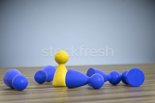 Játék egy áll öt 3d illusztráció üzlet Stock fotó © magann