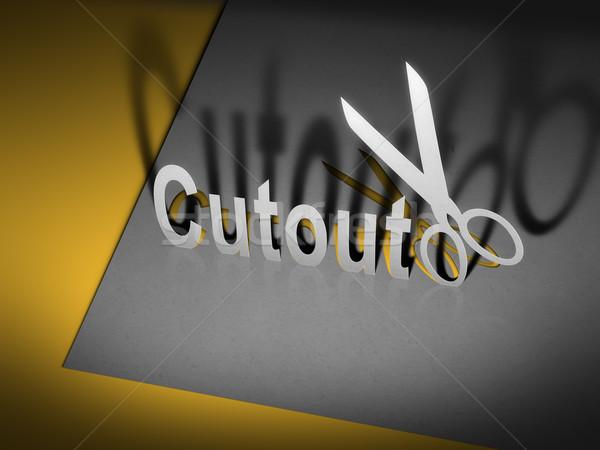 paper cutout scissors Stock photo © magann