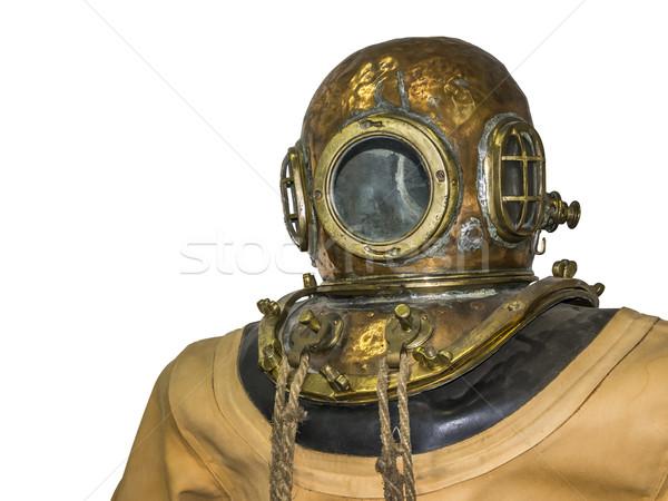 Oude duiken pak afbeelding sport glas Stockfoto © magann