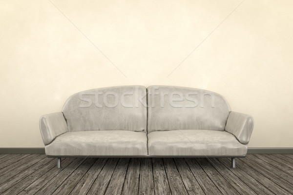 Haveloos kamer 3d render sofa home ruimte Stockfoto © magann