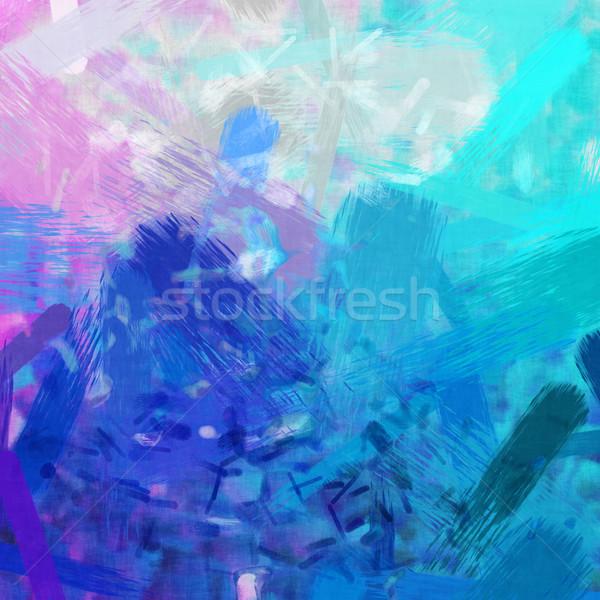 Różowy turkus ilustracja streszczenie wody Zdjęcia stock © magann