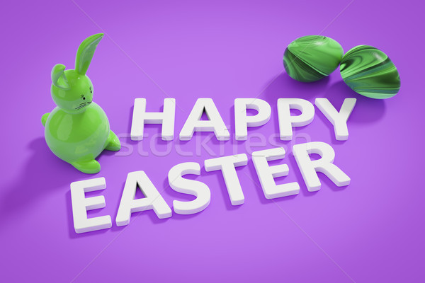 happy easter bunny figure and text Stock photo © magann