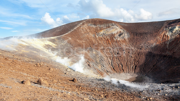 Szigetek aktív vulkán kép víz természet Stock fotó © magann