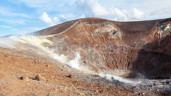 Eilanden actief vulkaan afbeelding water natuur Stockfoto © magann