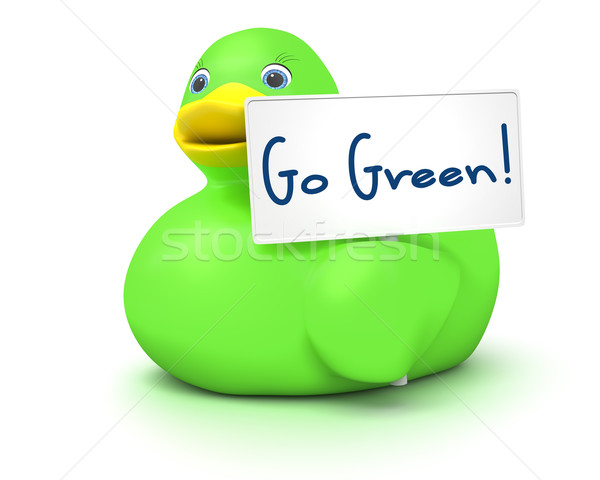Ducky Go Green Stock photo © magann