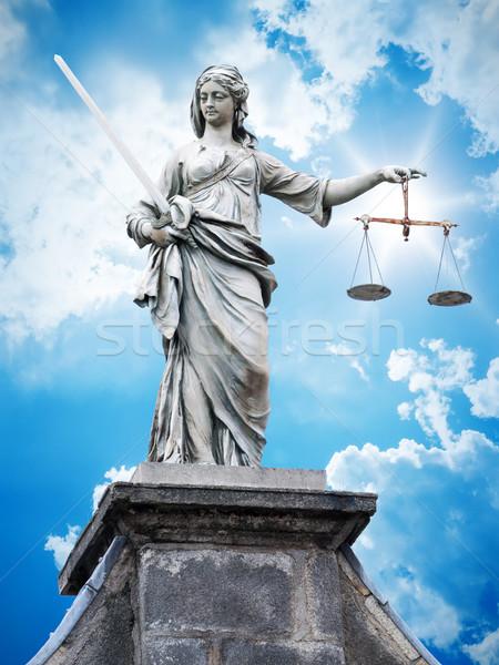 justitia statue Stock photo © magann