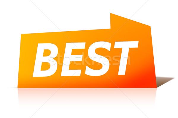 Rouge design étiquette image élégant texte Photo stock © magann