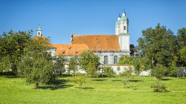 Mosteiro imagem verão igreja azul arquitetura Foto stock © magann