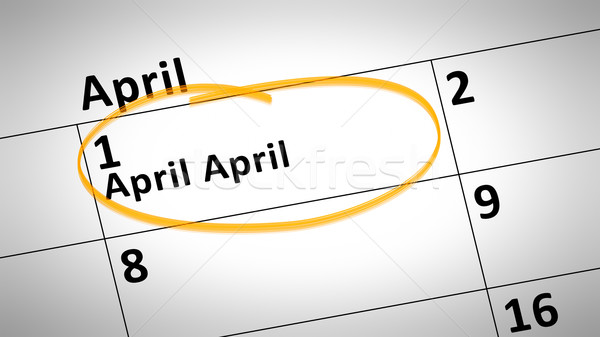 1st of April Calendar Stock photo © magann