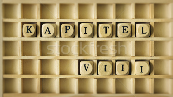 Hoofdstuk acht taal afbeelding houten spel Stockfoto © magann