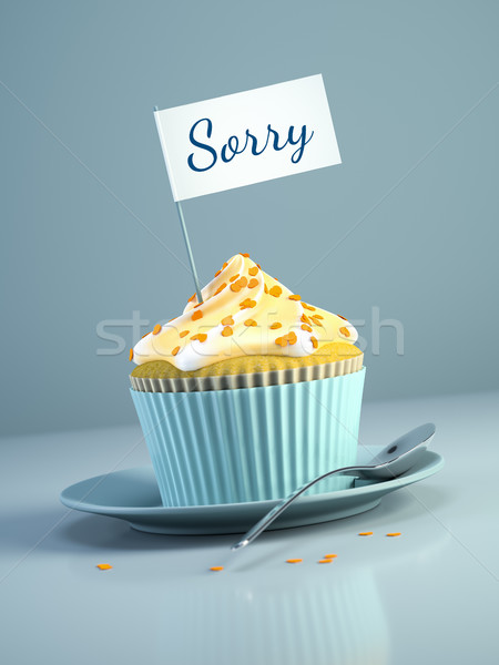 cupcake with flag sorry Stock photo © magann