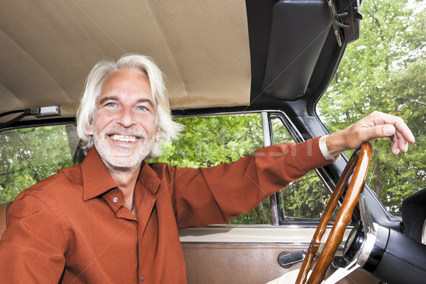 man in his car Stock photo © magann