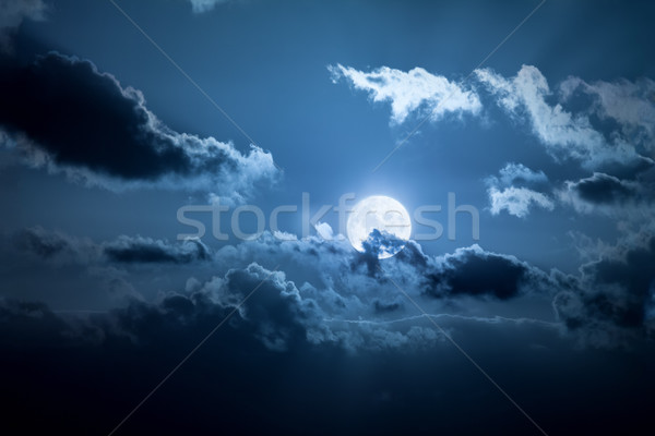 Luna llena noche imagen paisaje luz luna Foto stock © magann