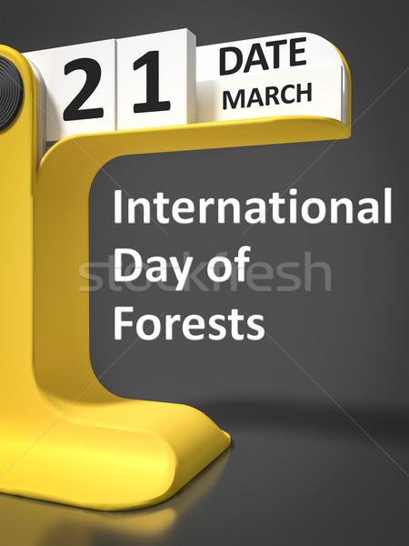 vintage calendar International Day of forests Stock photo © magann