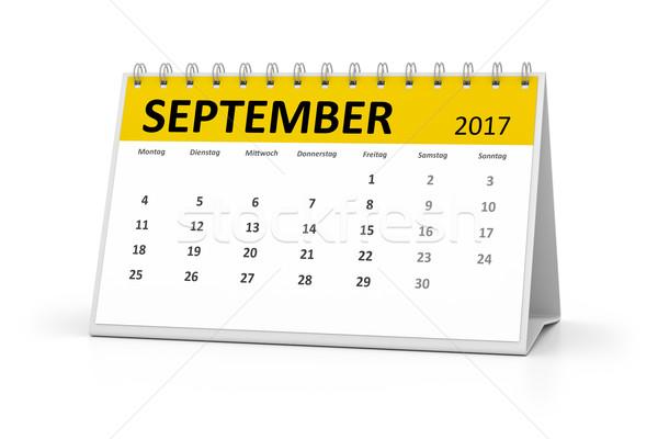 german language table calendar 2017 september Stock photo © magann