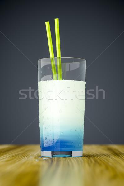 странно синий пить 3D продовольствие Сток-фото © magann