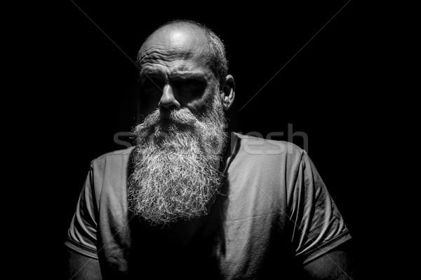 Seltsame Mann Augen Schatten Bild Porträt Stock foto © magann