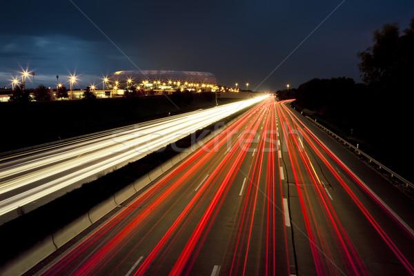 car lights motion Stock photo © magann