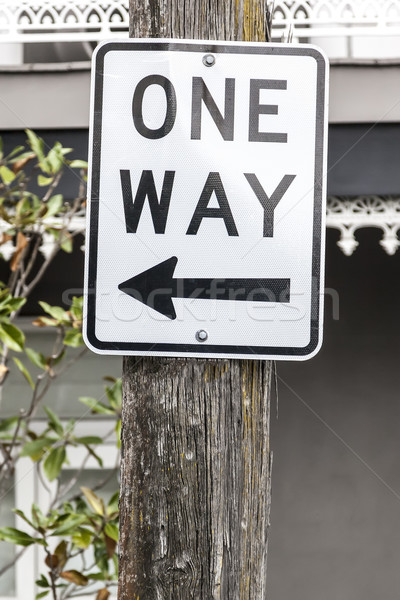 one way sign in Sydney Australia Stock photo © magann