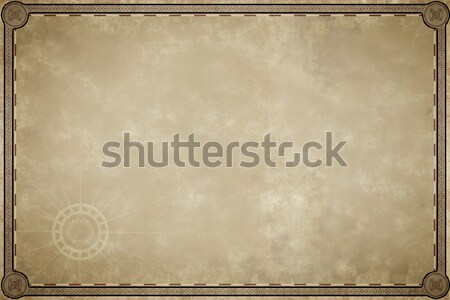 old map parchment blank Stock photo © magann