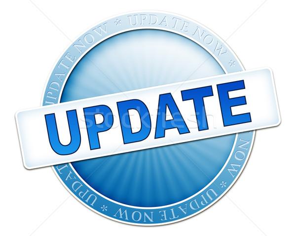 update button blue Stock photo © magann