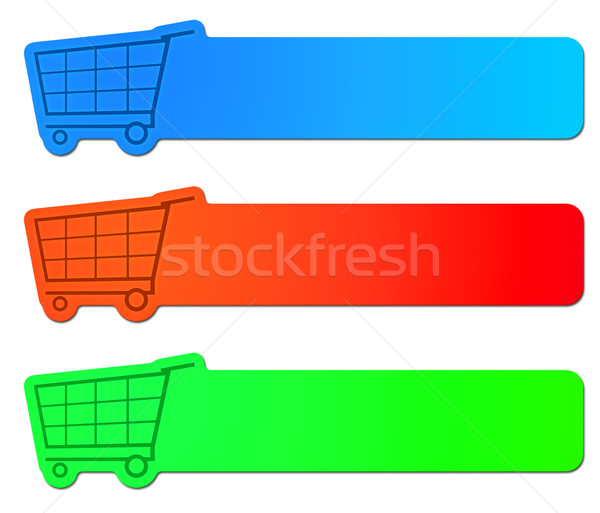 Stock photo: shopping cart signs