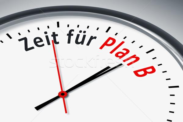 Saat metin görüntü tipik zaman plan b Stok fotoğraf © magann