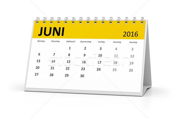 german language table calendar 2016 june Stock photo © magann