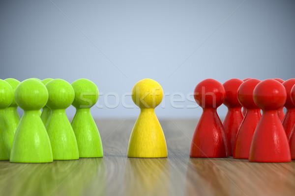 Grup oyun 3d illustration iş çalışmak uzay Stok fotoğraf © magann