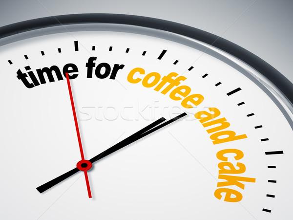 Stock fotó: Idő · kávé · torta · kép · szép · óra