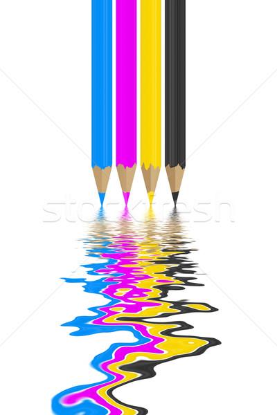 cmyk pencils Stock photo © magann
