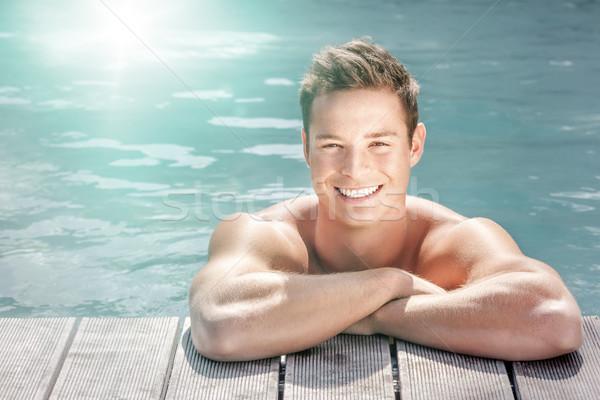 man at the pool Stock photo © magann