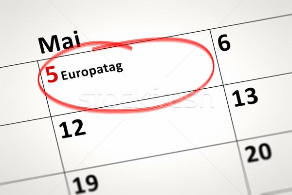 Calendrier détail image Europe jour affaires Photo stock © magann