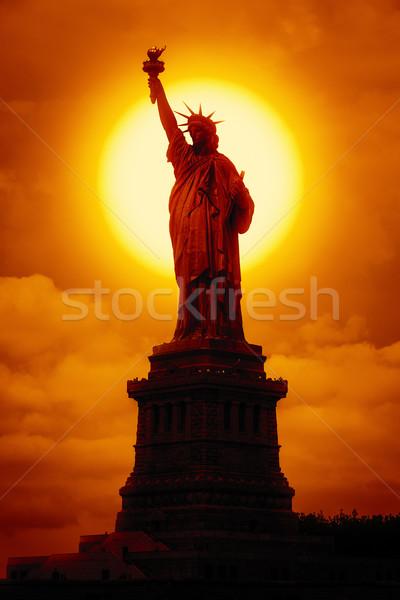 liberty statue at sunset Stock photo © magann